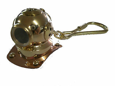 Scuba Diving Diver Key Chain KeyChain Dive Helmet Brass US Navy Maritime GP5000
