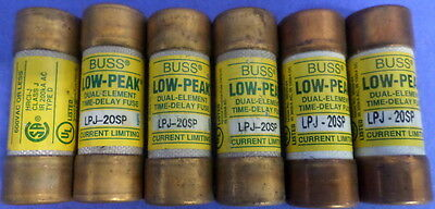 Buss Low-Peak,Lpj-20Sp, Class J,Type D  600V Fuse, Lots Of 6