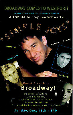 Simple Joys  Poster* Broadway Comes To Westport * Saycon Sengbloh