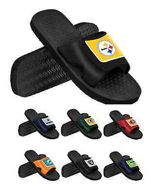 NFL Football 2014 Mens Team Logo Shower Slide Summer Beach Flip Flops -PIck Team