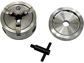 Brake Lathe Quick Chuck Adapter / Backing Plate / Key