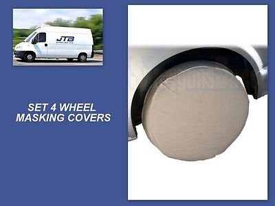 Masking - Wheel Covers For Paint Masking 4pc Tool Garage Auto