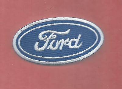 NEW 1 5/8 X 3 1/8 INCH FORD IRON ON PATCH FREE SHIPPING