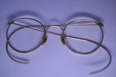 ANTIQUE 1920s AMERICAN OPTICAL AO 12K GOLD-FILLED EYEGLASSES MILGRAIN EDGE FRAME