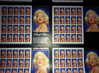 MARILYN MONROE LEGENDS OF HOLLYWOOD UNCUT SHEET (limited 1995)