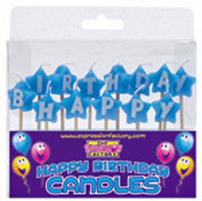 Happy Birthday Candles In Blue ,cake, Special Occasions, Cake Decoration