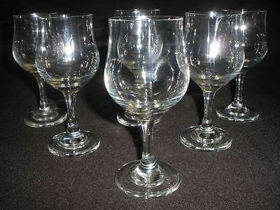 Fabulous Stemmed Glass Wine Glasses X 6