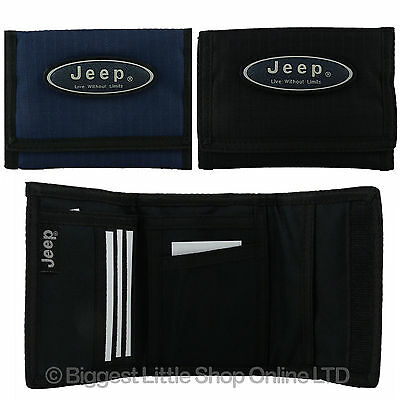 NEW Mens or Boys Sports Wallet by JEEP Canvas TriFold Strong Tough