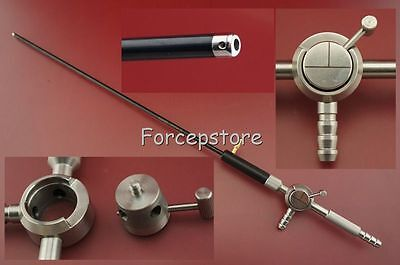 New 5x330mm Irrigation Suction Cannula + Electrode Ball Point Laparoscopic