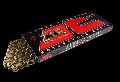 JT Z1R Motorcycle Drive Chain 530 108 Links Extra Heavy Duty Gold