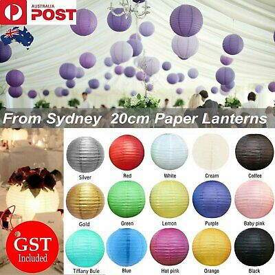 1x 20cm Round Paper Lantern Lanterns Party Chinese Birthday Wedding Decoration E