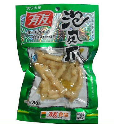 5 pcs X 80g chinese food Spicy chicken feet with Pickled Peppers Vacuum-packed