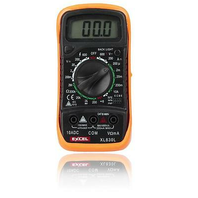 Digital Voltmeter Ohmmeter Ammeter Multimeter OHM Voltage Current Tester XL-830L