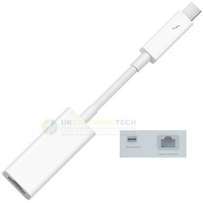 Official Apple Thunderbolt to Gigabit Ethernet Adapter For MacBook Air & More