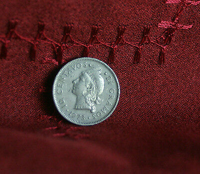 1973 10 Centavos Dominican Republic Copper Nickel World Coin Native Princess