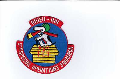 USAF PATCH - 9th SPECIAL OPERATIONS SQUADRON PATCH FULL COLOR:GA14-1