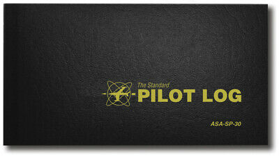 NEW ASA Standard Pilot Log - Black | ASA-SP-30 | Pilot Logbook