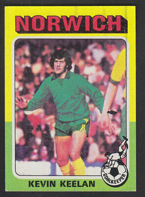 JOHN RYAN -#072- NORWICH TOPPS-FOOTBALL PALE BLUE BACK 1979