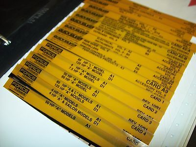 Microfiche Force Outboards 1991-1997 Parts Diagrams & Accessories
