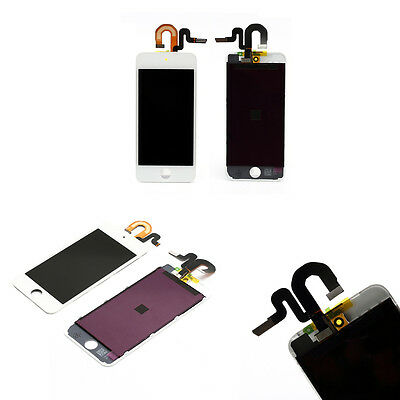 Kit Touch Screen Vetro E Lcd Display Bianco Per Apple Ipod Touch 5G A1421 Oem