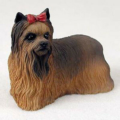 YORKIE DOG Figurine Statue Hand Painted Resin Yorkshire Terrier Gift Pet Lovers