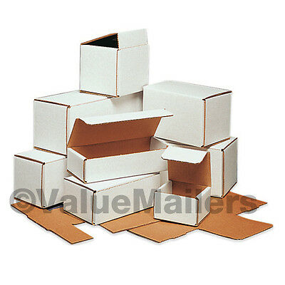 50 - 8x6x5 White Corrugated Shipping Packing Box Boxes Mailers