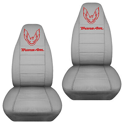 PONTIAC FIREBIRD TRANS AM CAR SEAT COVERS CANVAS front set in silver