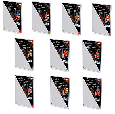 (10-Pack) Ultra Pro 4x6 Screwdown Large Card Holder Protection Postcards Photos