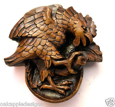 Medieval Misericord Carving Lincoln Cathedral Cockerel Bird HandMade Church Gift