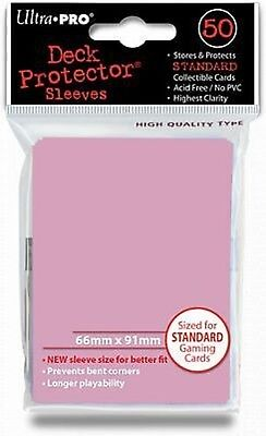 50 Bustine Protettive Ultra PRO Magic PINK Rosa Standard Deck Sleeves Buste