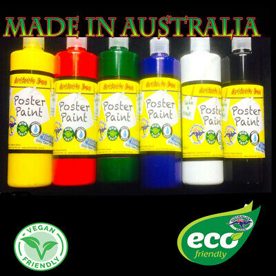 Kids Paint Set 6 x 500ml Washable Kids Craft Paint School Paints Poster Paint