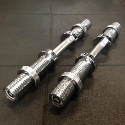 The Best Olympic Pro Dumbbell Handles Available Muscle Motion Spinlock Dumbbells