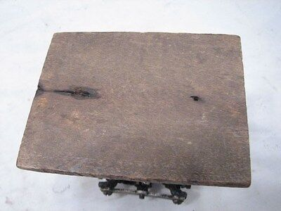 Antique Primitive Wooden Mortised Milking/Foot Stool Bench Rest Farm Country