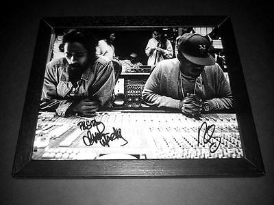 """Nas & Damian Marley Pp Signed & Framed 10""""x8"""" Inch Photo Repro Rap Hip Hop"""