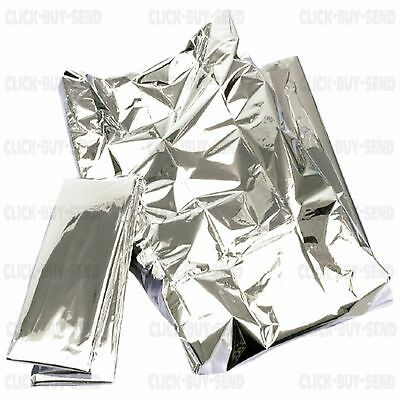 2 Or 4 Emergency Foil Blanket Blankets First Aid Kit 2 X 1 M Hiking Camping New