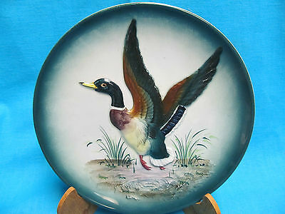 "Vintage 8"" Raised Left Facing Duck In Flight  Wall Plate Made In Japan"