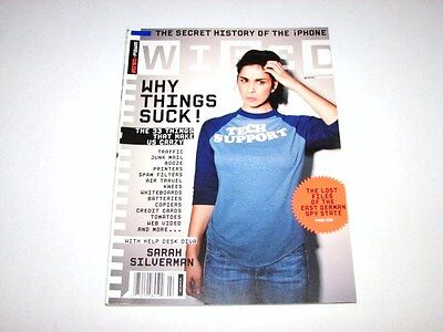 Wired Magazine February 2008 Sarah Silverman on Why Things Suck RARE Back Issue