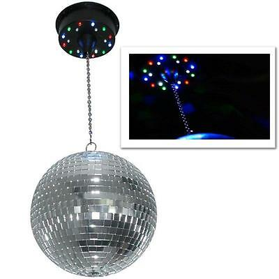 Rotating Disco Mirror Ball Ceiling Mount 18 Led Lights * Free P&p Special Offer