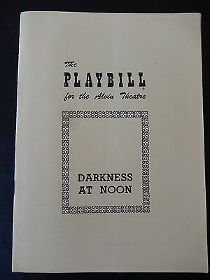 February 1951 - Alvin Theatre Playbill- Darkness At Noon - Claude Rains