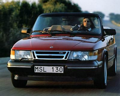 1987 Saab 900 Turbo Cabriolet Automobile Photo Poster zm2571
