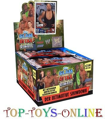 SLAM ATTAX RUMBLE 50 BOOSTER in the DISPLAY NEW, Sealed TOPPS 250 CARD