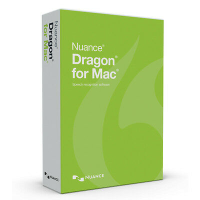 Nuance Dragon Dictate 5 For Mac Retail NEWEST Version, Not 4