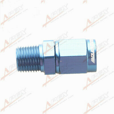 """3AN AN3 AN-3 Female Swivel To Male 1/8"""" NPT Straight Aluminum Adapter Fitting"""