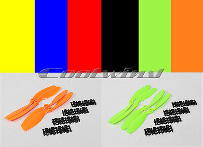 Quadcopter Props - 8x4.5 - 2xCCW, 2xCW  4 Props Multicopter Black Green Orange