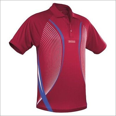 Tibhar Line Red Table Tennis Shirt - Over 50% Off
