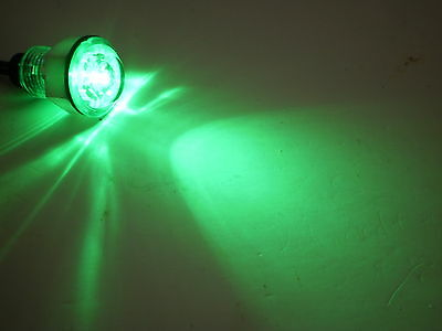 """11/16"""" Green Clear Innovative Bullet Light 1 LED Waterproof Marker Accent Aux"""