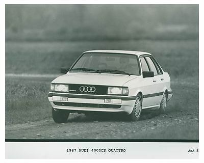 1987 Audi 4000CS Quattro Automobile Photo Poster zch4734