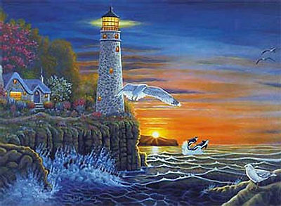NEW Royal Brush Paint by Number Waterside Lighthouse PAL18