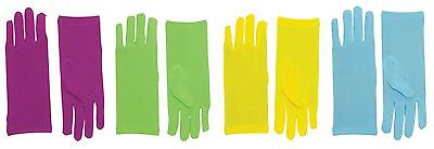 Short Theatrical Gloves Womens Adult Costume Wrist Length Glove Fancy Dress NEW