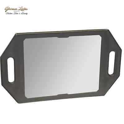 Professional Salon Mirror Black Double Handles Kodo Brand With Logo